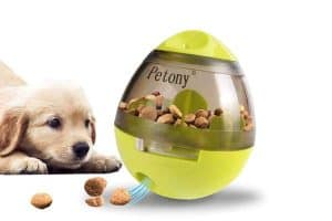 Petony Dog Food Treat Ball Toys with Holes Dispenser