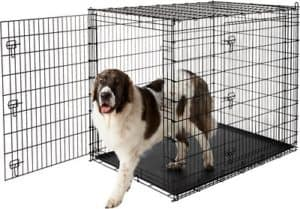best wire dog crate 54 in size frisco xx large heavy duty double door dog crate