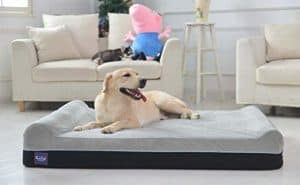 laifug orthopedic memory foam dog bed