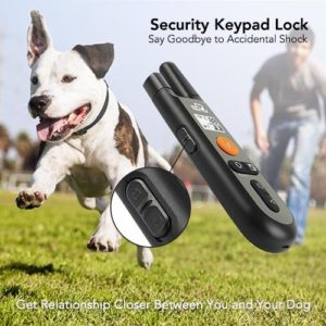 rechargeable dog collar w three training modes